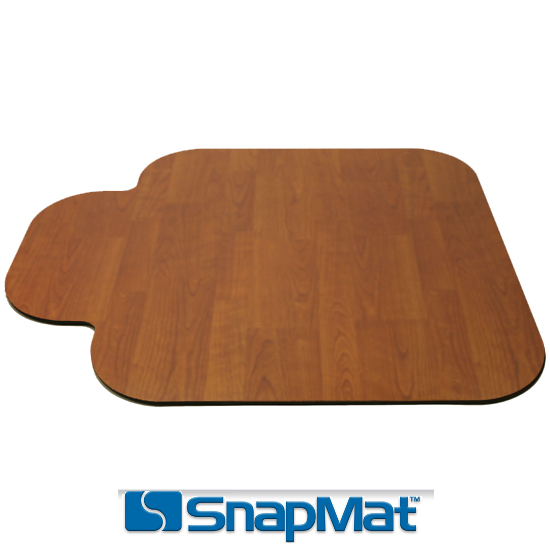 Wood chair mats in size small by snapmat Wood floor chair mat