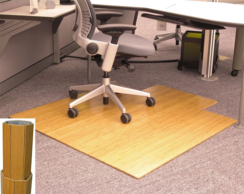 Anji Mountain Bamboo Rug Company Offers A Full Line Of Desk Chair Mats To Protect Your