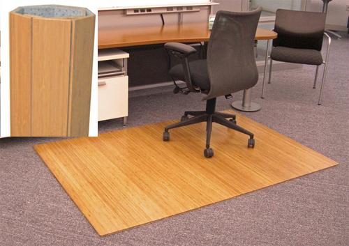 AMBW Anji Natural Bamboo Desk Chair Mat X - Office chair mat