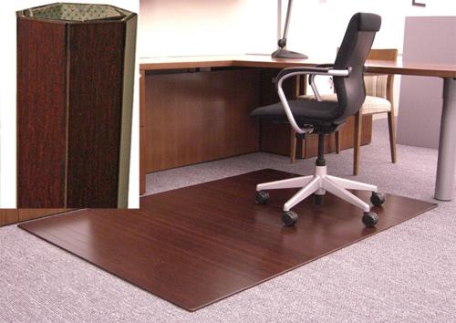 amb24015w anji dark cherry bamboo desk mat $315.00 | 48 x 72 -- 1