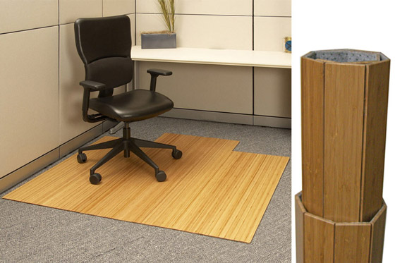Genial Roll Up Bamboo Chair Mat $220.00 For Office Desk Area   By Anji Mountain  Bamboo Rug Co.